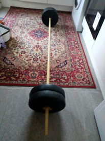 4x5 kg weights and 6kg olimpc barbell