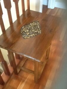 Solid Wood Side table with inlay