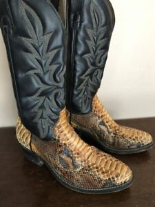 Men's Python Snakeskin Boots Size 8.5 (NEW LOW PRICE)
