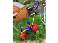 Fisher price trike with handle
