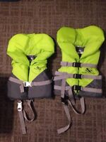 Child and Infand PFD or life jackets