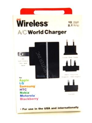 Just Wireless World Mobile Phone Battery Charger 2.1A - Black