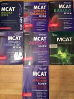 Kaplan MCAT prep books + practice tests