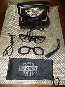 harley davidson transition sun glasses / goggles with hard shell