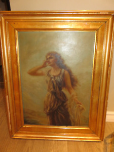 Oil Painting 1890-1910..NOT A PRINT REDUCED TO $65