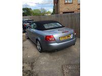 Audi A4 cabriolet S line 2006 12 months mot