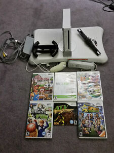 Wii Console, Fit Board and Games