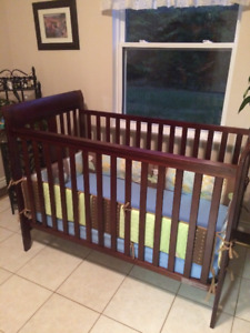 Baby Crib * with mattress, sheet and bumper pads