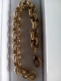 Gold filled 12mm belcher bracelet new 8inches