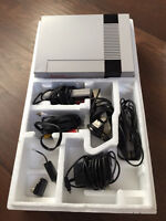 Nintendo NES console with 2 controllers