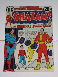 DC Comics Shazam!#1 (1973) Superman cover! Movie! comic book