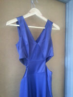 ARTI GOGNA MONTREAL DESIGNER RUNWAY PURPLE BLUE DRESS (SIZE SM)