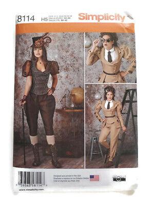 Simplicity 8114 Sewing Pattern Steampunk Jacket Pants Knickers Size 6 8 10 12 14