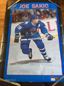Joe Sakic Quebec Nordiques Poster