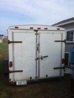 6x12 covered trailer for sale
