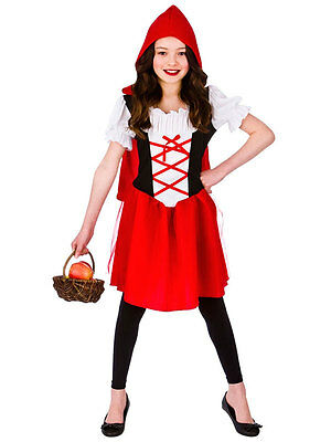 Girls Little Red Riding Hood Fancy Dress Costume Kids Fairytale Book Week (Little Red Riding Hood Kid Kostüme)