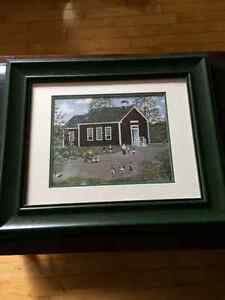 Framed picture - country schoolhouse Windsor Region Ontario image 2