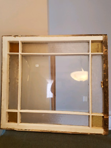 Antique glass window
