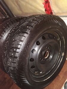 Barely Used Winter Tires & Rims Studded (Set of 4) St. John's Newfoundland image 1