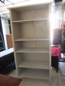 solid wood tall bookcase / shelving unit