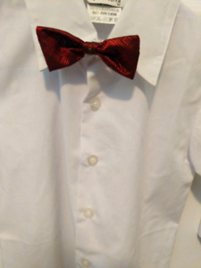 Newberry Boys Shirt with Red Bow tie (18 months)