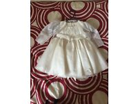 Beautiful flower girl/bridesmaid/christening/special occasion dress with bolero. Size 6-12mths.