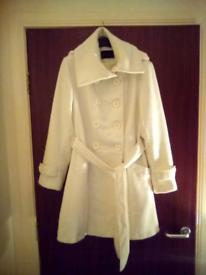 Lovely white dress Winter Coat