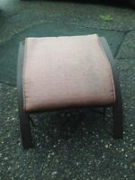 4 Padded Patio Foot Stools for SALe