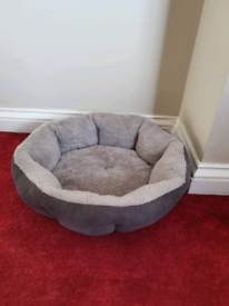 Grey cat or small dog bed