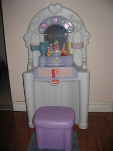 Toy Make-Up Vanity with Stool