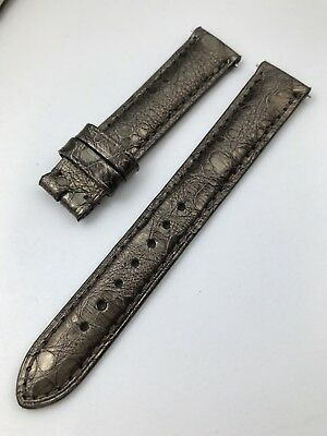 New Authentic David Yurman  Brown Snakeskin Replacement Watch Band 15 MM
