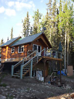 6 HOURS NORTH OF SMITHERS - CABIN IN WOODS NEAR DEASE LAKE, BC