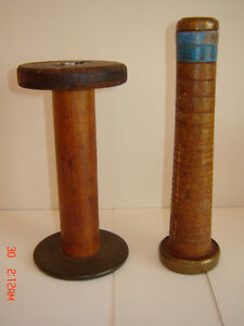 Vintage Wooden Textile/Yarn Spools - Shabby Chic!
