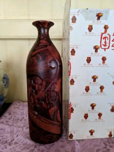 Luyi Unusual Modern Painted Clay Vase #2