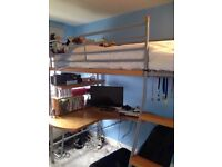Tall cabin bed with upgraded wood
