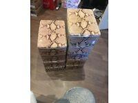 Boutique stackable shoe boxes