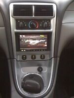 Mustang double din dash