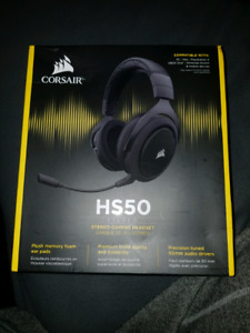 Corsair HS50 Stereo Gaming Headphones for PC, PS4, Xbox One