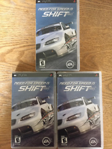 3 copies of Need for Speed Shift for the Sony PSP