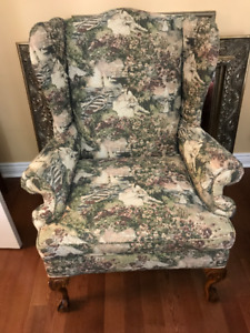 Wing Back Chairs ( Two )