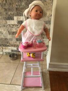 Corolle Baby with stroller and high chair