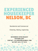 Independent Housekeeping Service, NELSON, BC