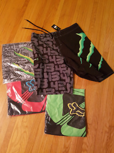 Fox racing monster energy board shorts nwt