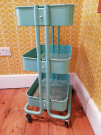 IKEA Raskog Turquoise Kitchen Craft Trolley