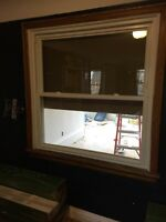 4'4 x 4'3 vinyl window five years NEW!
