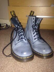Light Blue/Grey Doc Martens Boots Size 6