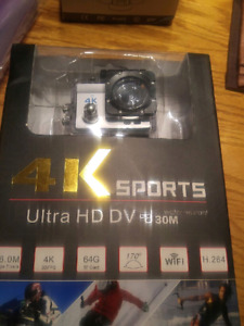 Sportcam-silver new like Hero 3 complete with brackets $75