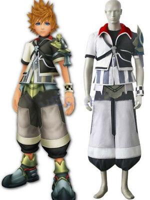 Kingdom Hearts Ventus Black And White Uniform Cloth Leather Cosplay - Kingdom Costumes