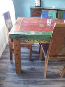 Dining Table and 8 Chairs made from reclaimed malasian teak