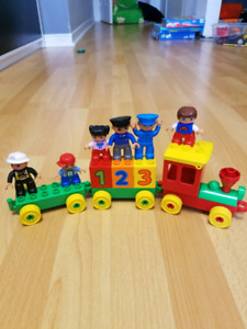 Assortment of Lego duplo blocks